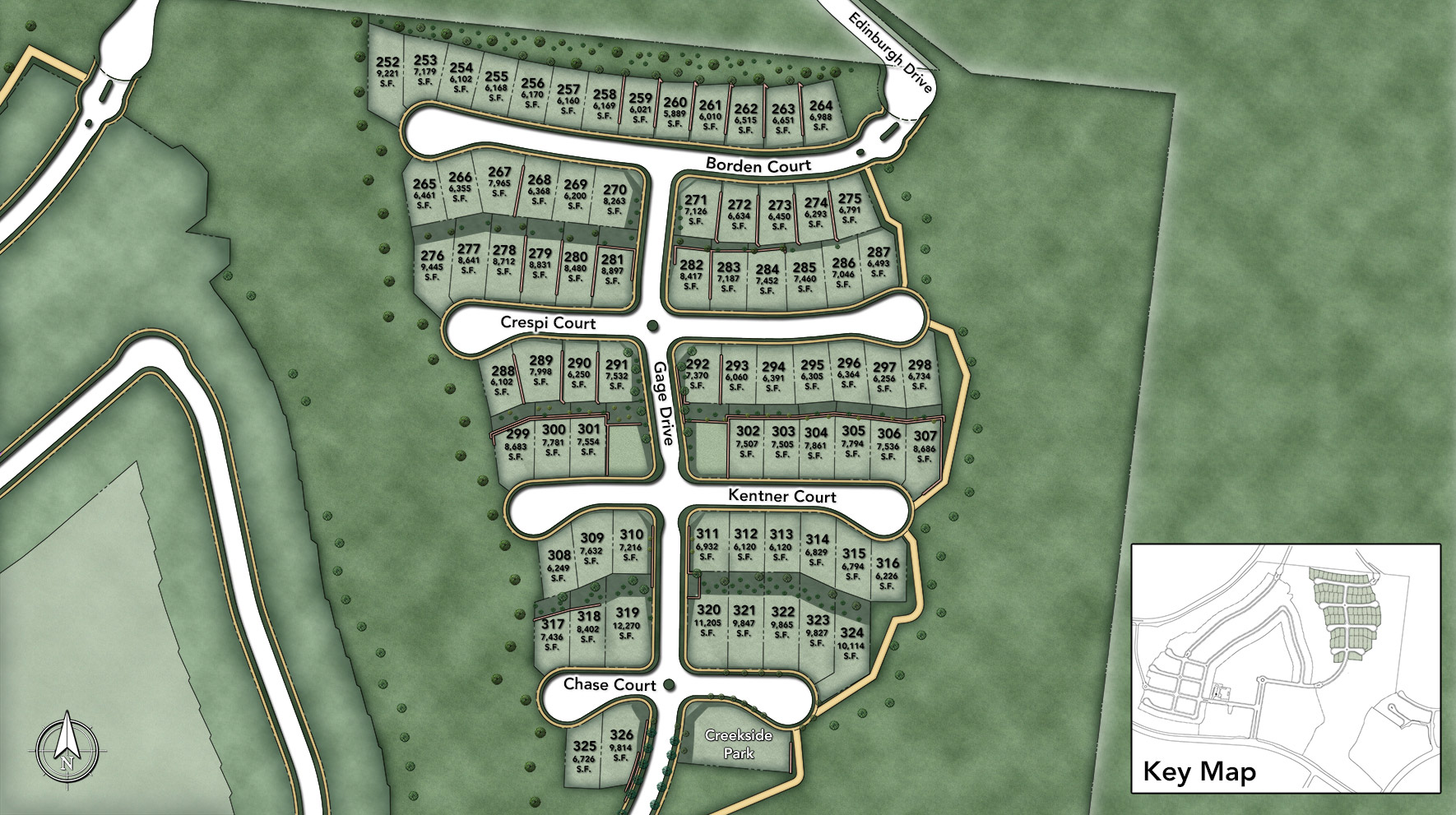 Toll Brothers at Robertson Ranch - The Terraces Site Plan
