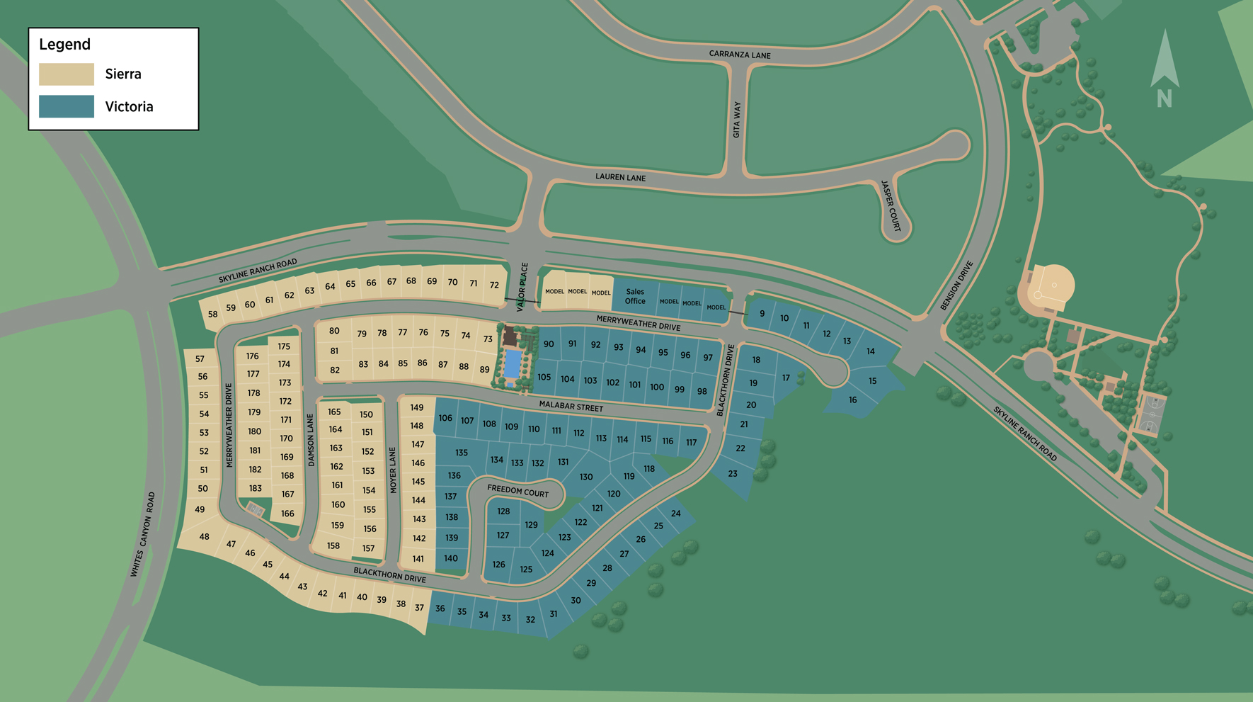 Toll Brothers at Plum Canyon Combined Site Plan