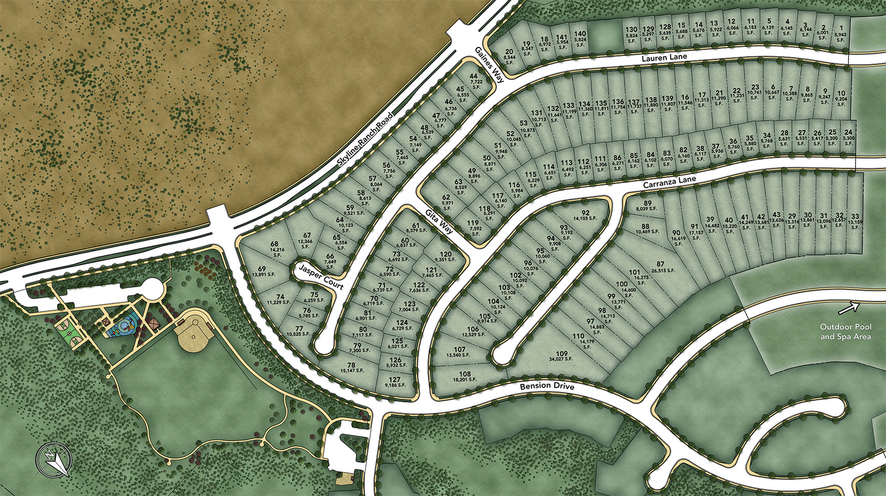 Mirabelle at Plum Canyon Site Plan