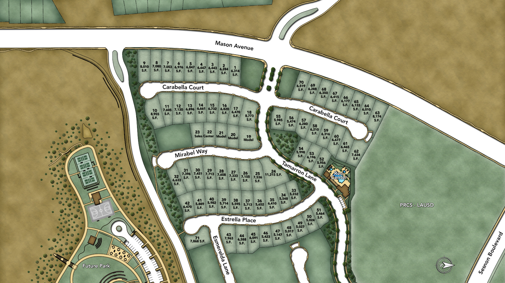 Avila at Porter Ranch - Vistas Collection Overall Site Plan