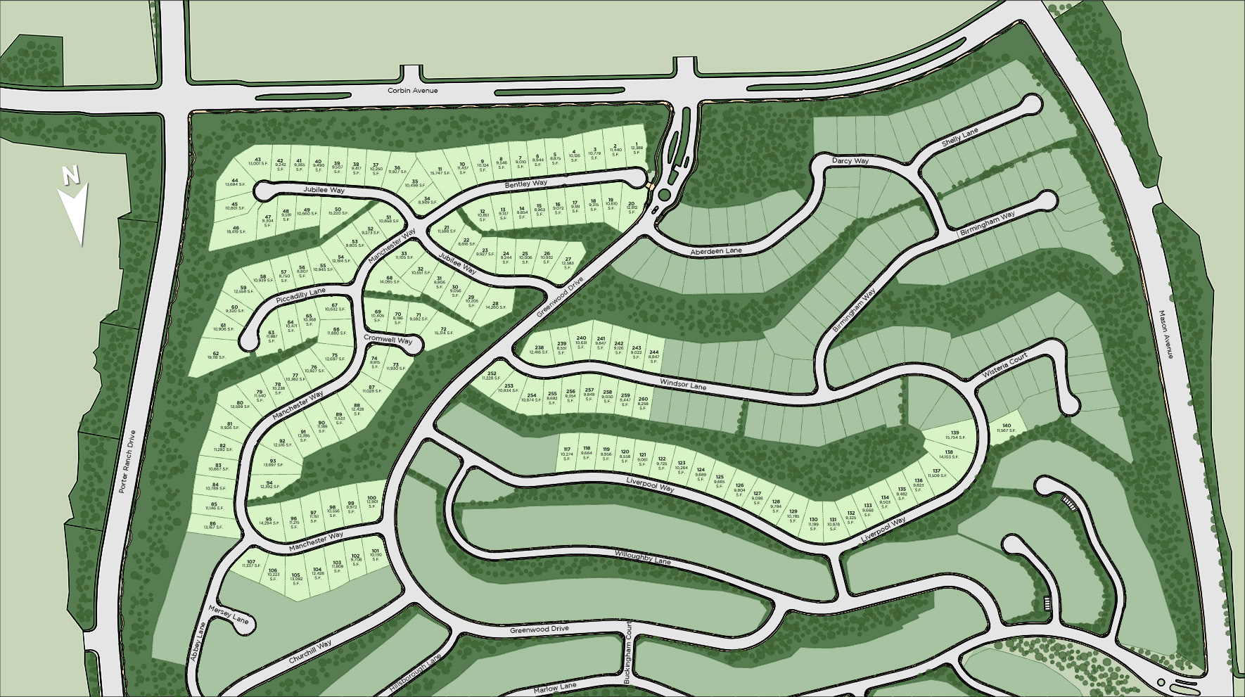 Westcliffe at Porter Ranch - Palisades Collection Site Plan