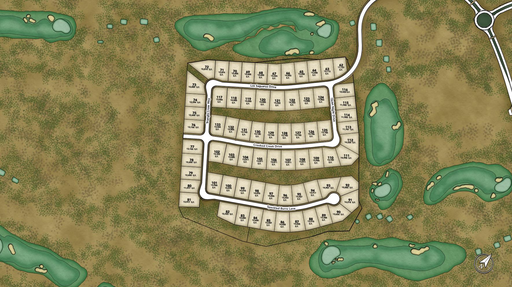 Toll Brothers at Los Saguaros Site Plan