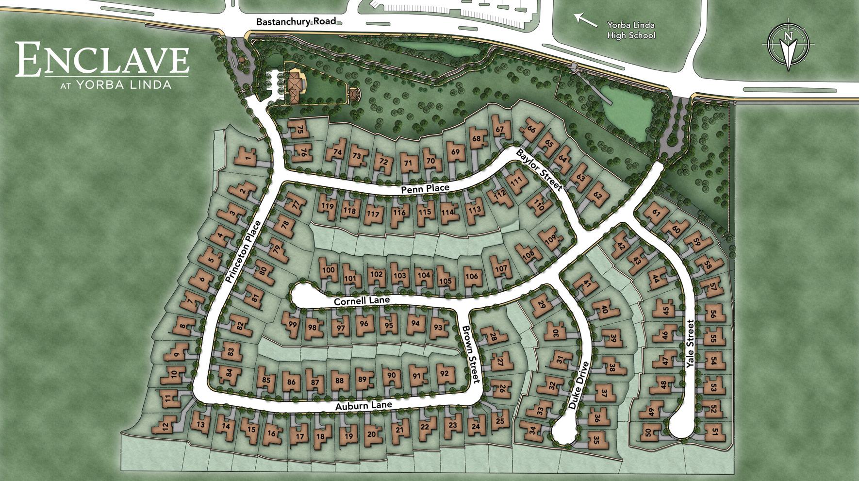 Enclave at Yorba Linda Site Plan