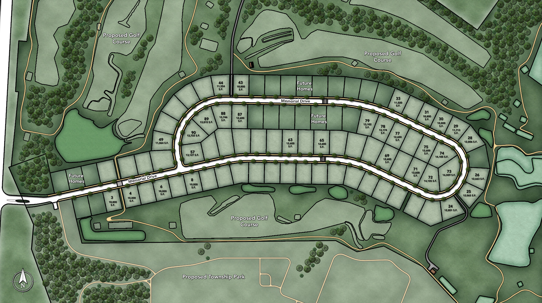 Woodlands at Warwick Site Plan