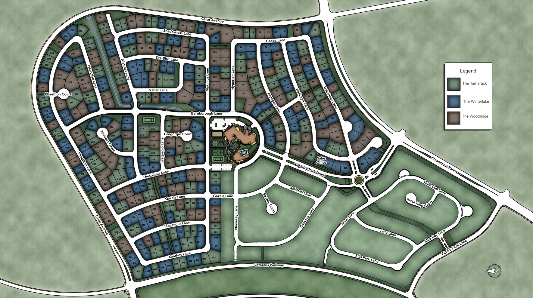 Regency at Damonte Ranch - Woodridge Collection Site Plan