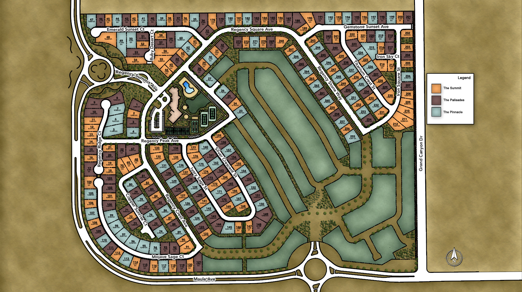 Regency at Summerlin - Summit Collection Site Plan