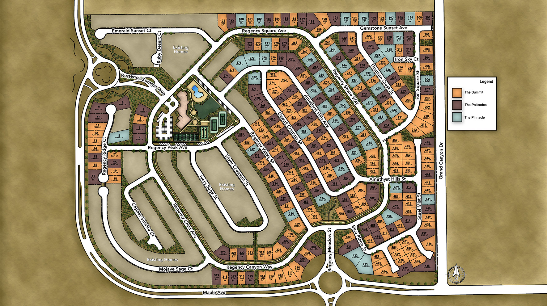 Regency at Summerlin - Palisades Collection Site Plan