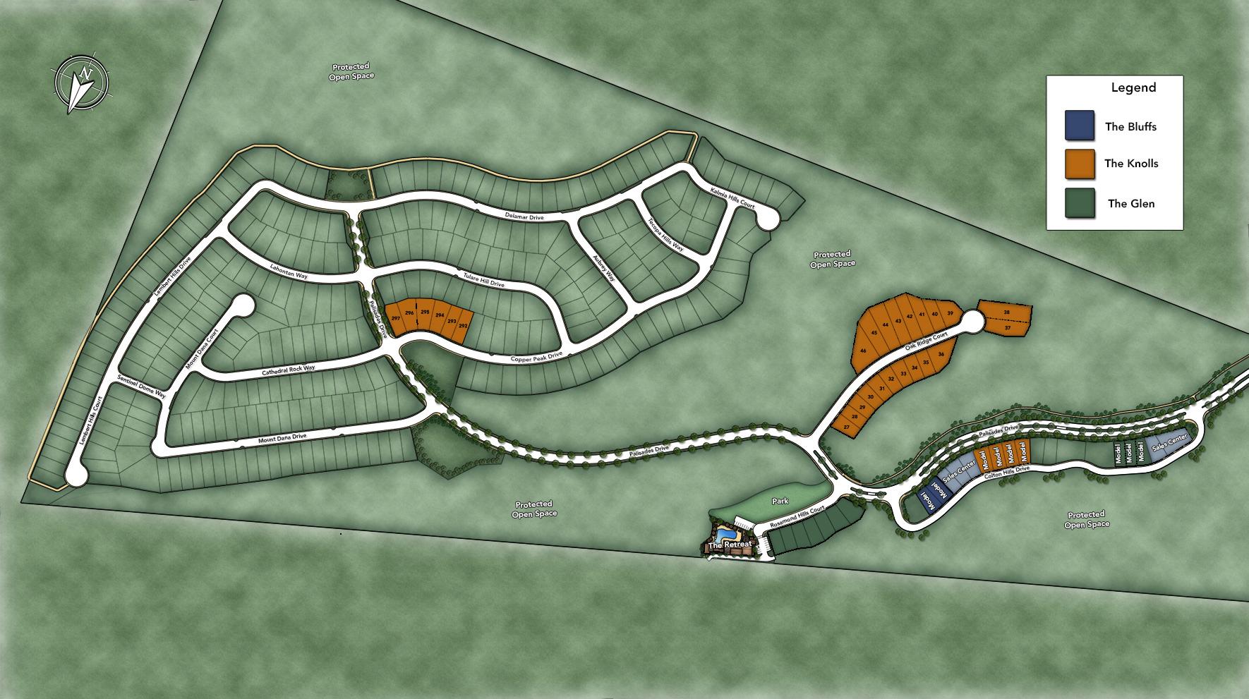 The Knolls at Tassajara Hills Site Plan I