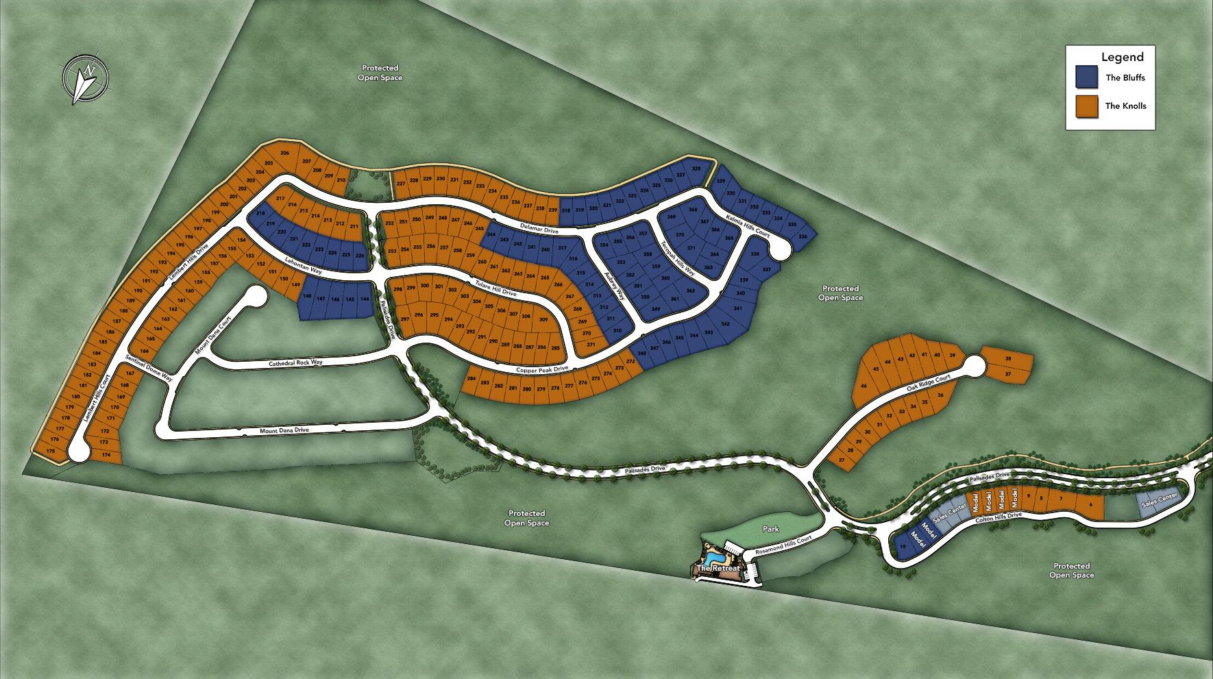 The Knolls at Tassajara Hills Site Plan