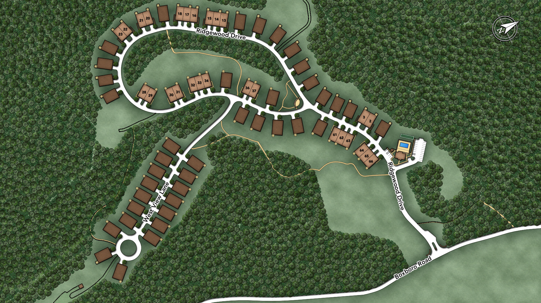 Regency at Stow - The Carriage Site Plan