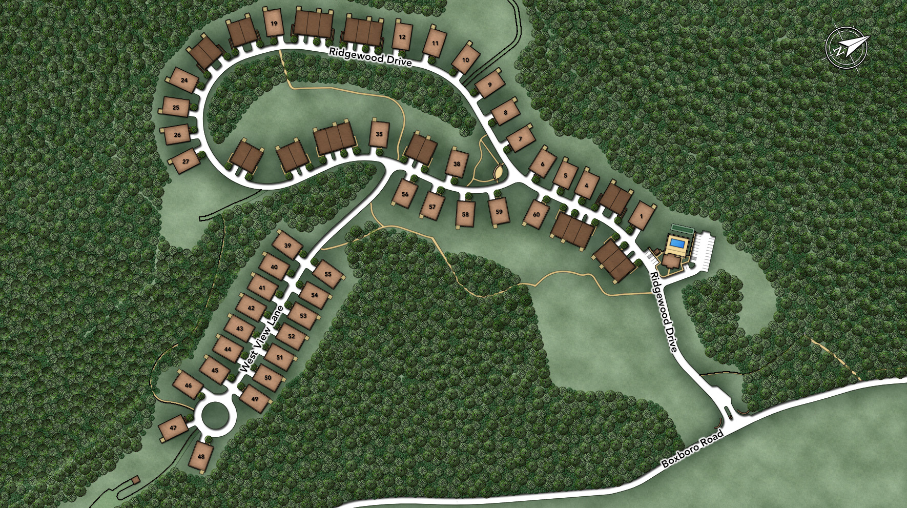 Regency at Stow - The Villas Site Plan