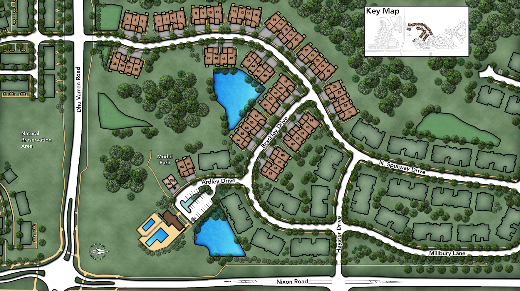North Oaks of Ann Arbor - The Villa Collection Site Plan