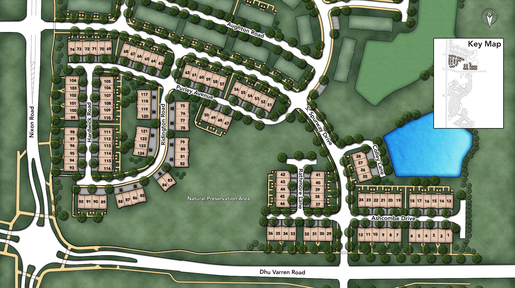 North Oaks of Ann Arbor - The Townhome Collection Site Plan