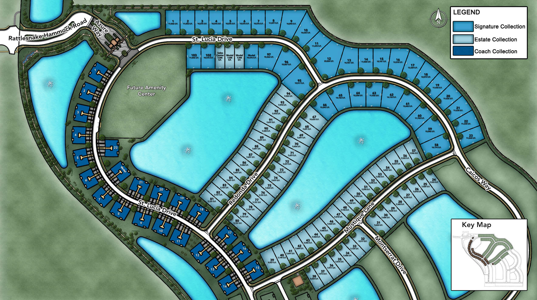 Azure at Hacienda Lakes - Estate Collection Site Plan