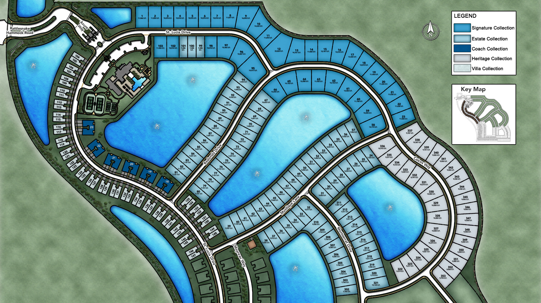 Azure at Hacienda Lakes - Estate Collection Site Plan I
