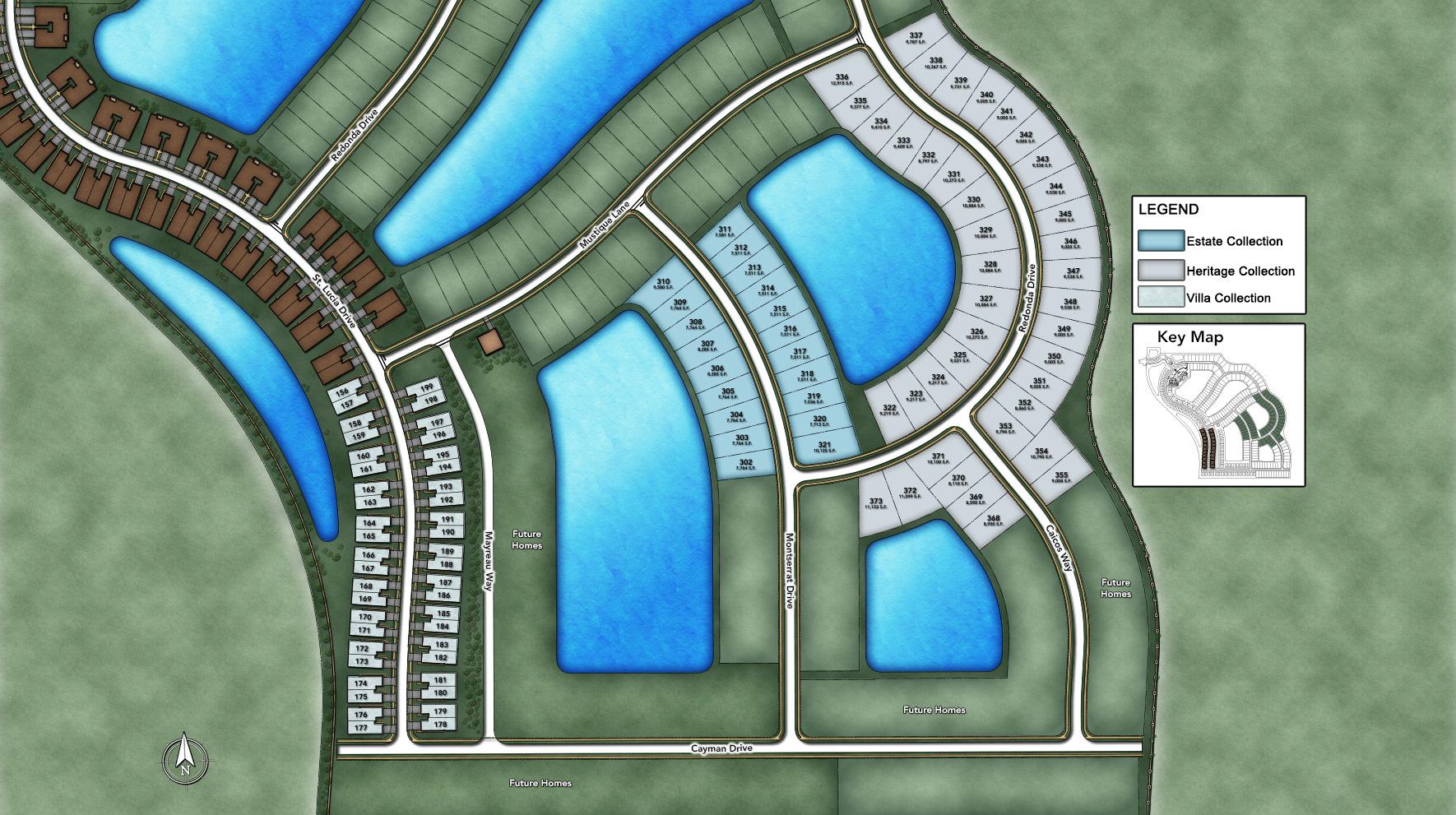 Azure at Hacienda Lakes - Heritage Collection Site Plan II