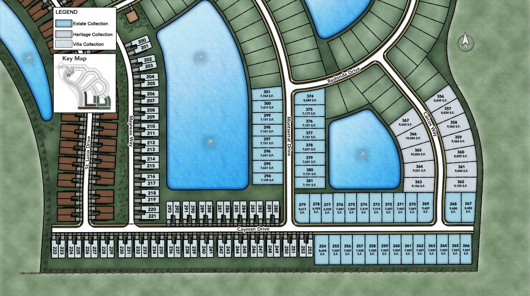 Azure at Hacienda Lakes - Heritage Collection Site Plan III