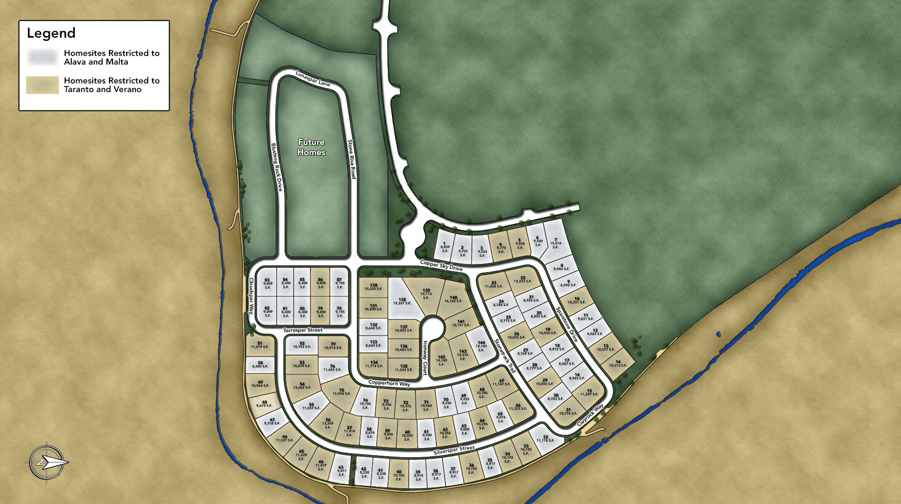 Sorrento Trail at Bella Vista Ranch Site Plan
