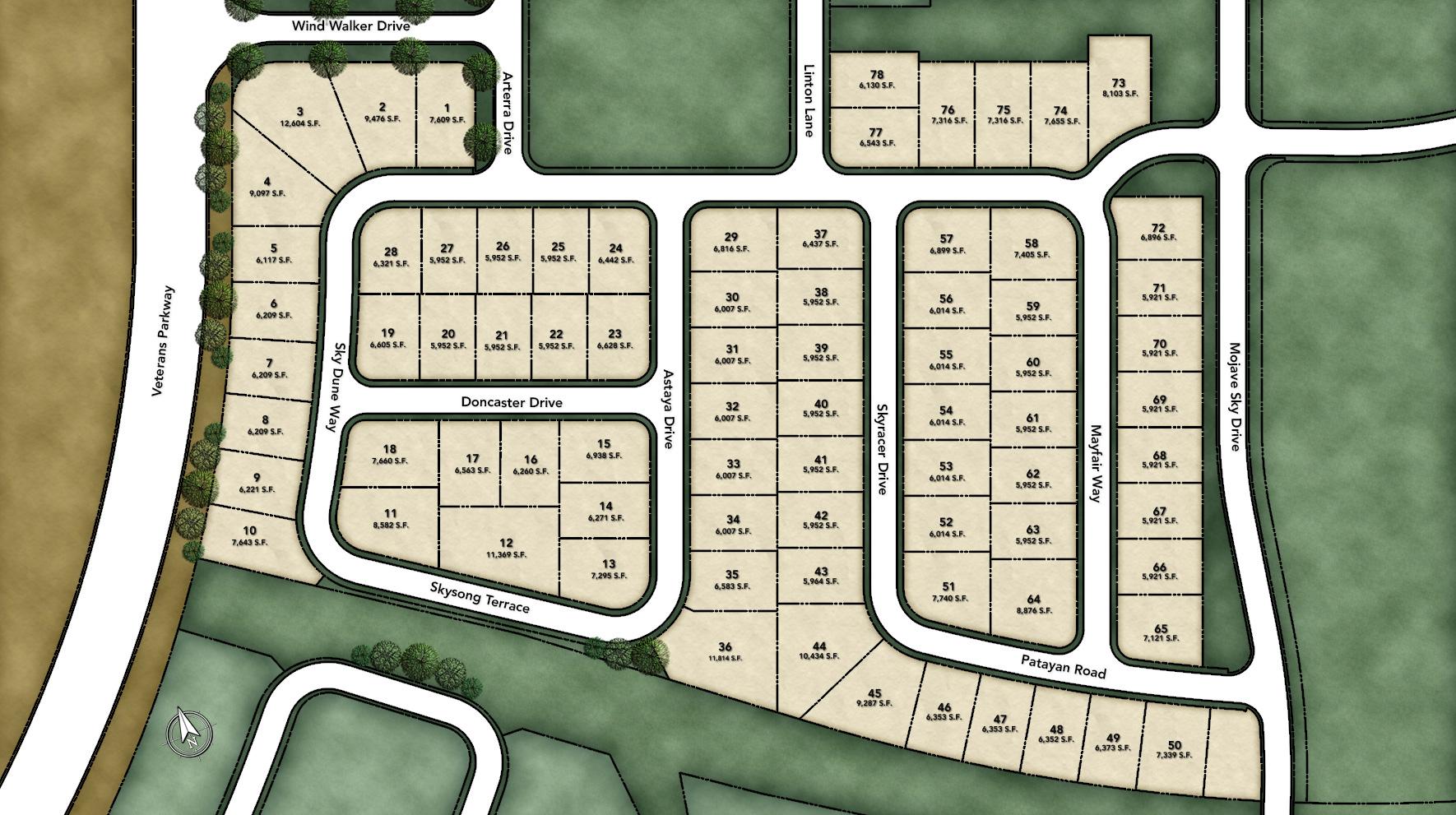 Mason Ridge at Bella Vista Ranch Site Plan