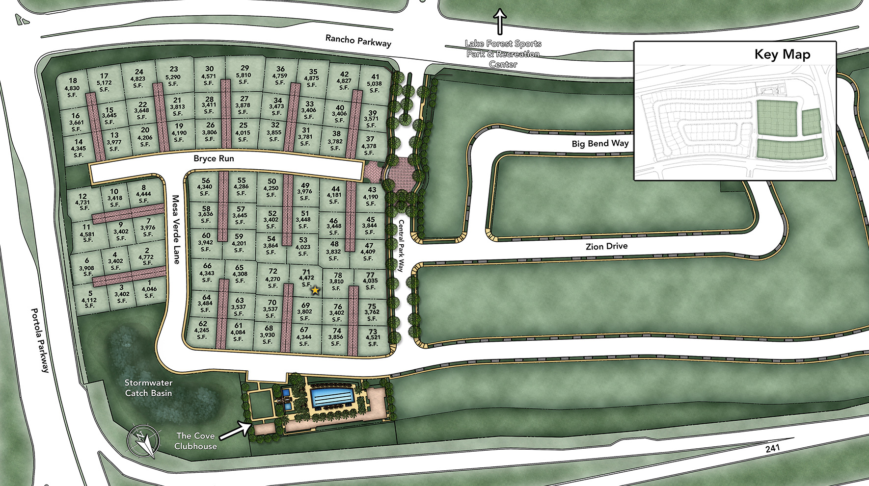 Lexington at Parkside Site Plan