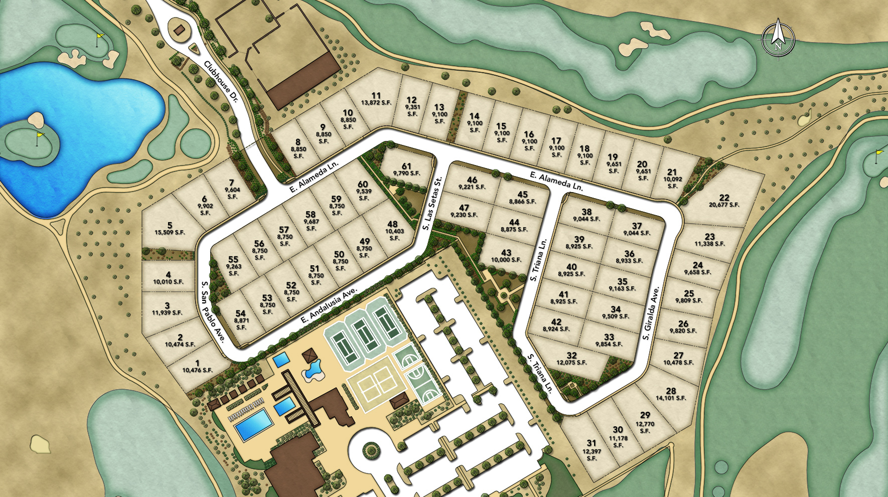 Legacy at Seville Overall Site Plan
