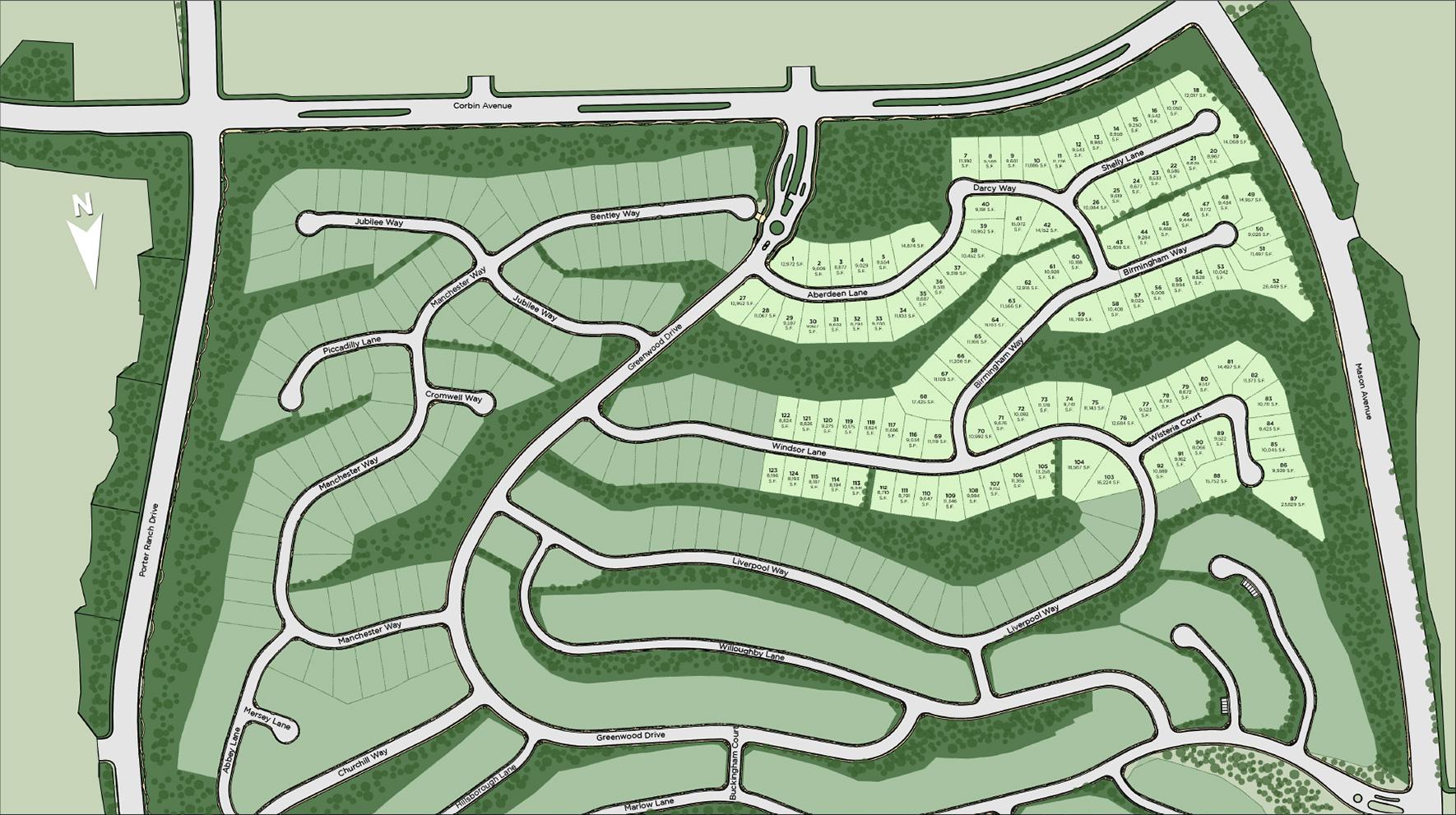 Westcliffe at Porter Ranch - Cascades Collection Site Plan
