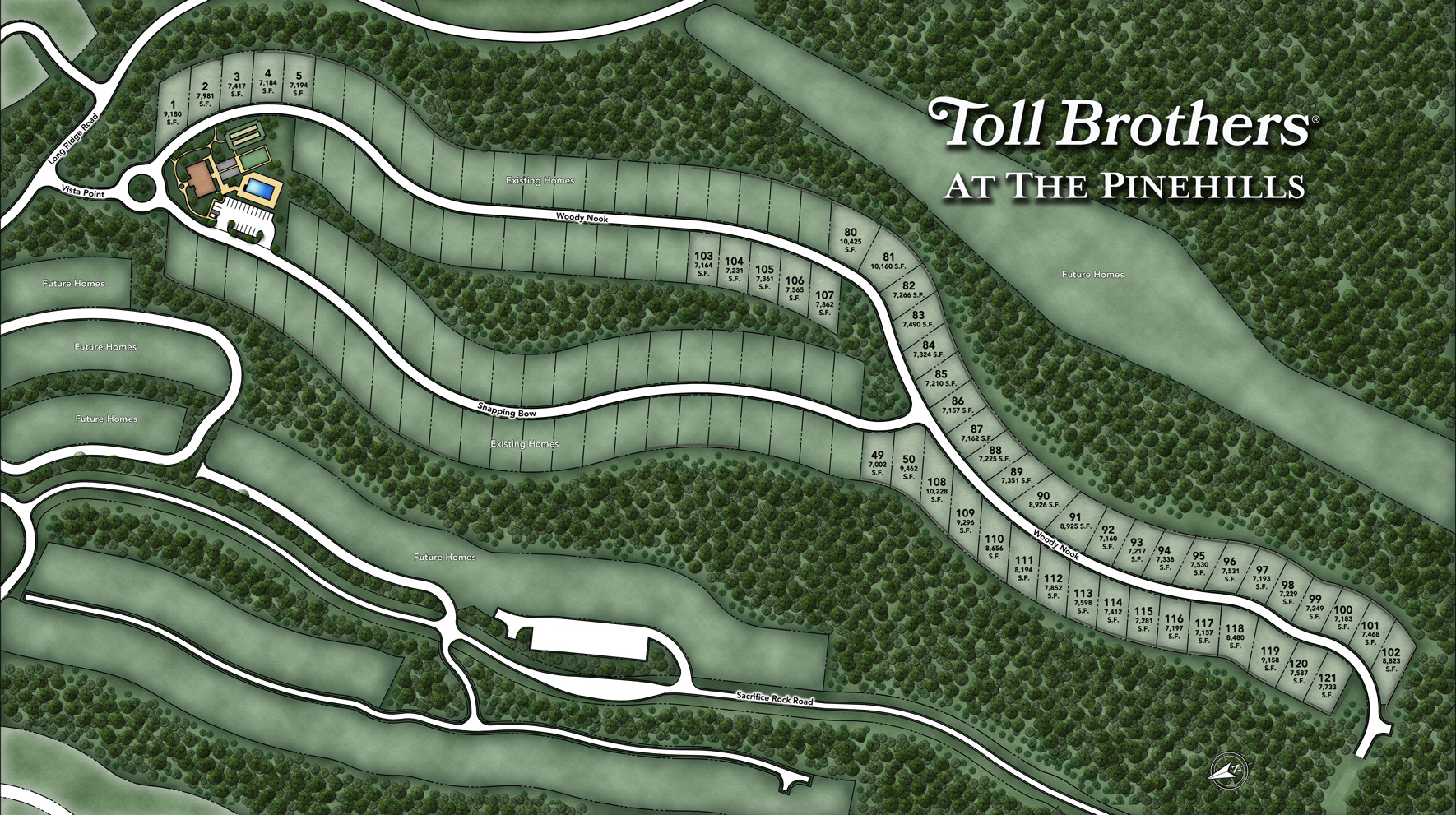 Toll Brothers at The Pinehills - Vista Point Site Plan