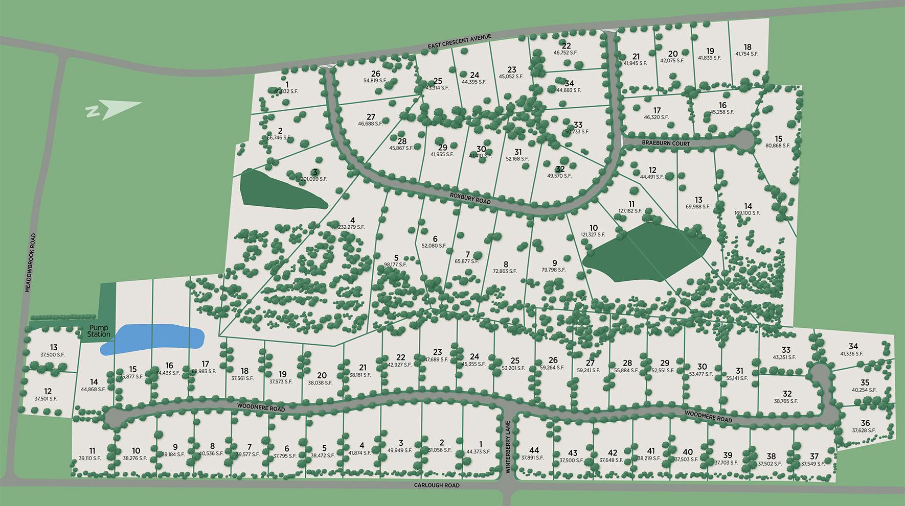 Orchard Ridge - The Enclave Site Plan