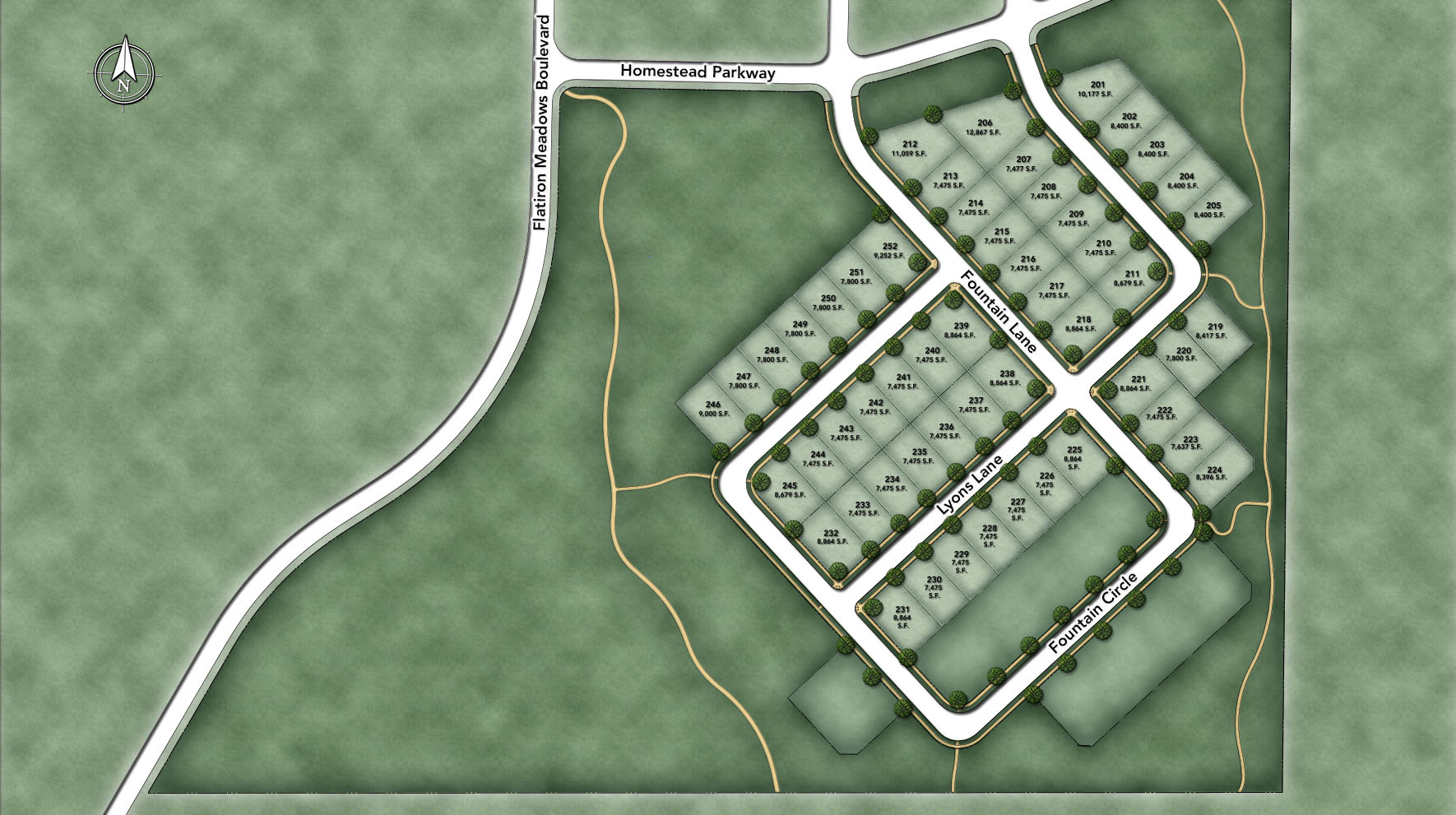 Toll Brothers at Flatiron Meadows - The Retreat Site Plan