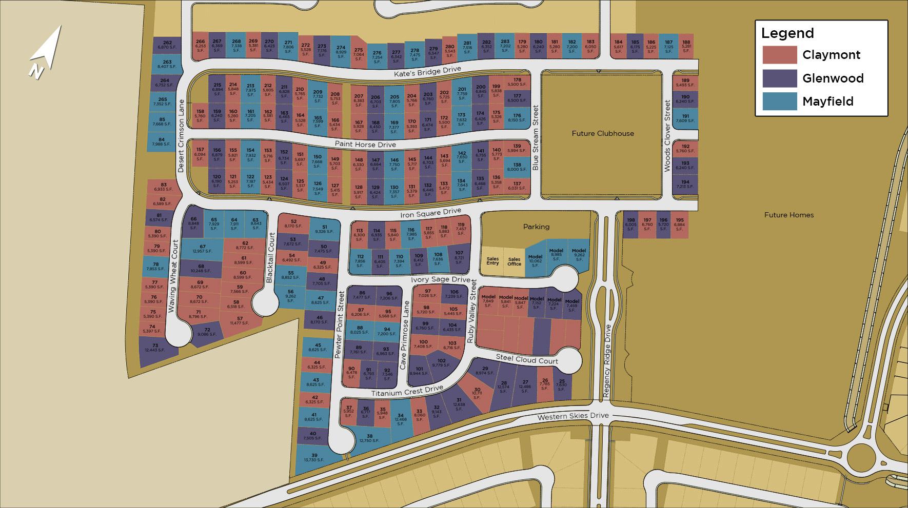 Regency at Caramella Ranch - Glenwood Site Plan I