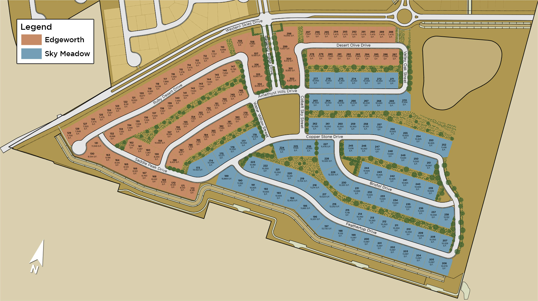 Sky Meadow at Caramella Ranch Site Plan
