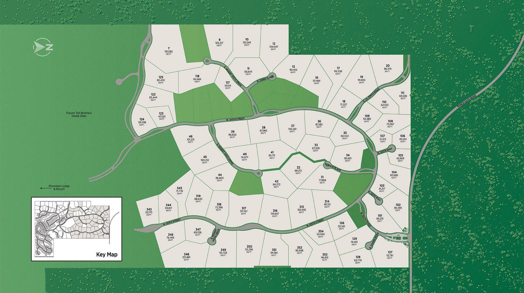 Sereno Canyon - Estate Collection Site Plan