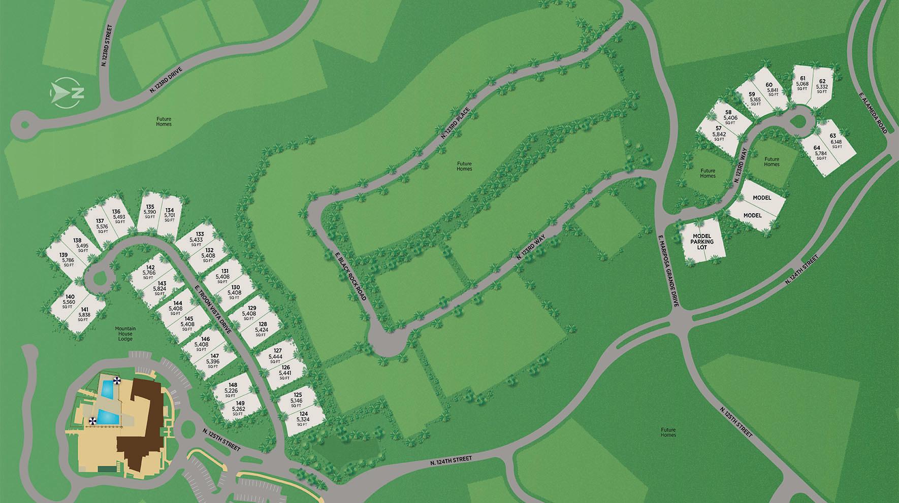 Sereno Canyon - Enclave Collection Site Plan