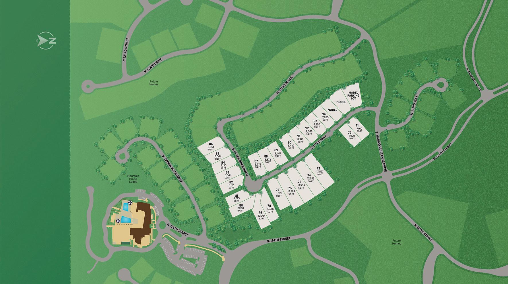Sereno Canyon - Villa Collection Site Plan