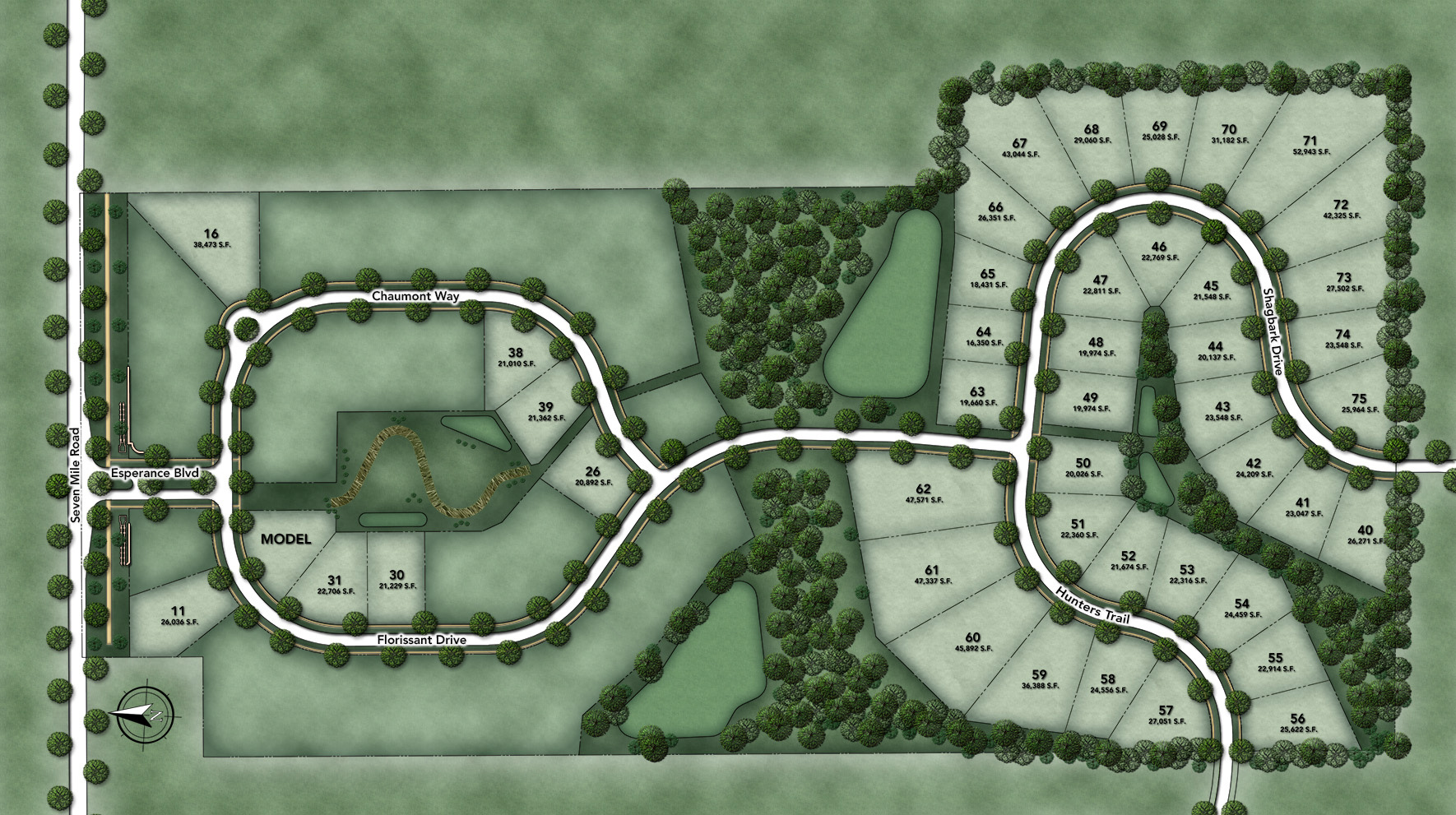 Toll Brothers at Montcaret Site Plan