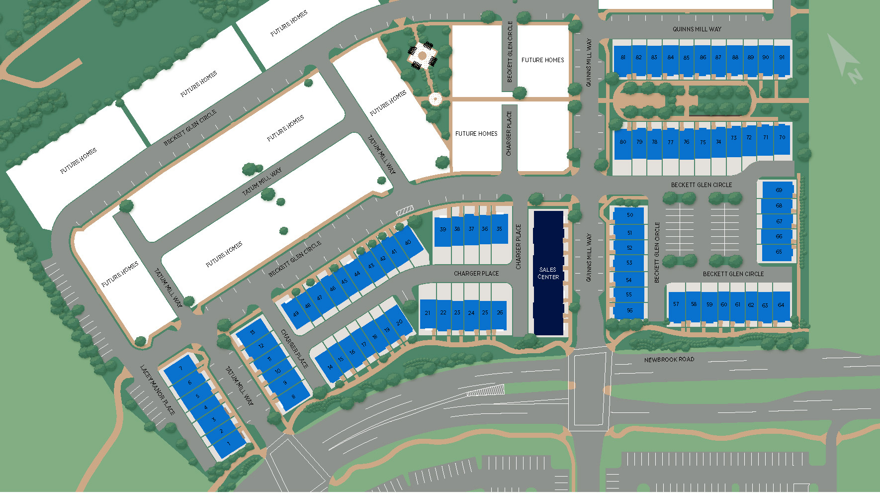 Commonwealth Place at Westfields - The Braddock Site Plan