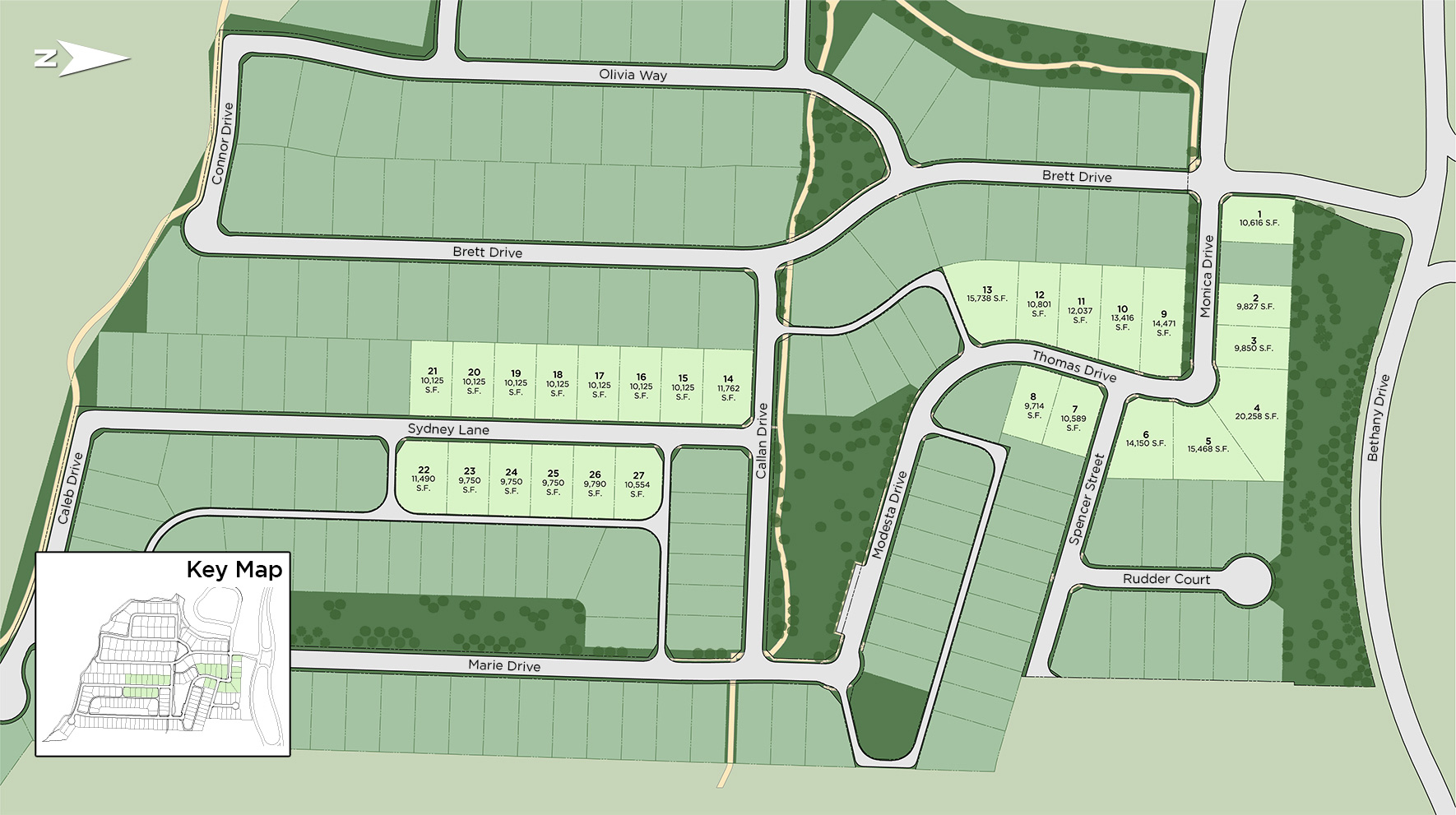 Montgomery Farm Estates Section 1 Site Plan