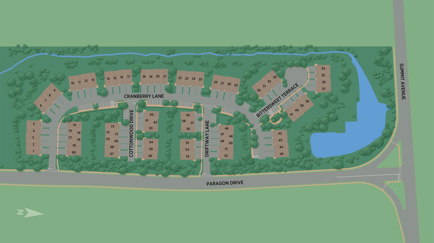 Village Springs at Montvale Site Plan