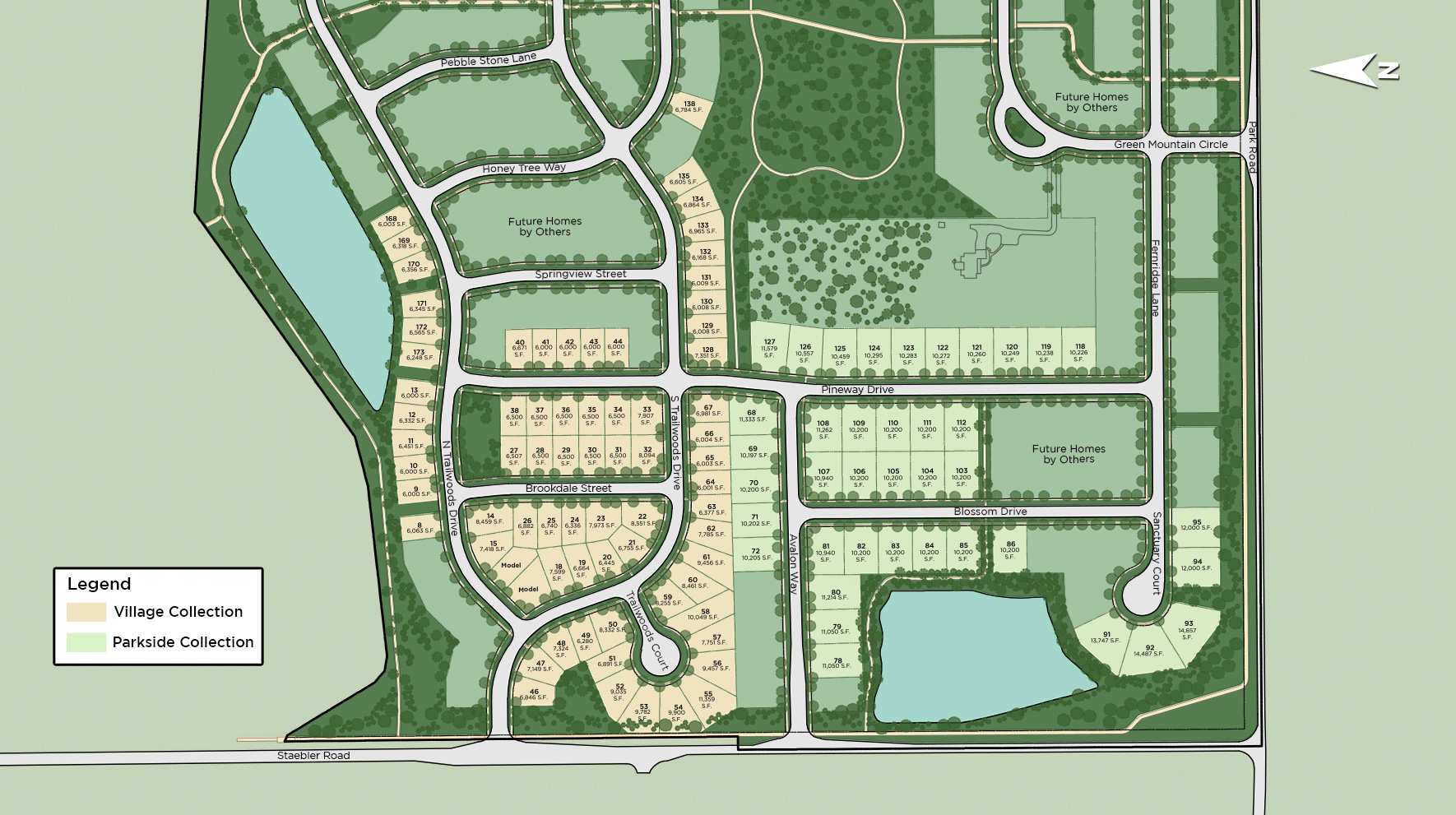 Trailwoods of Ann Arbor - The Village Collection Site Plan