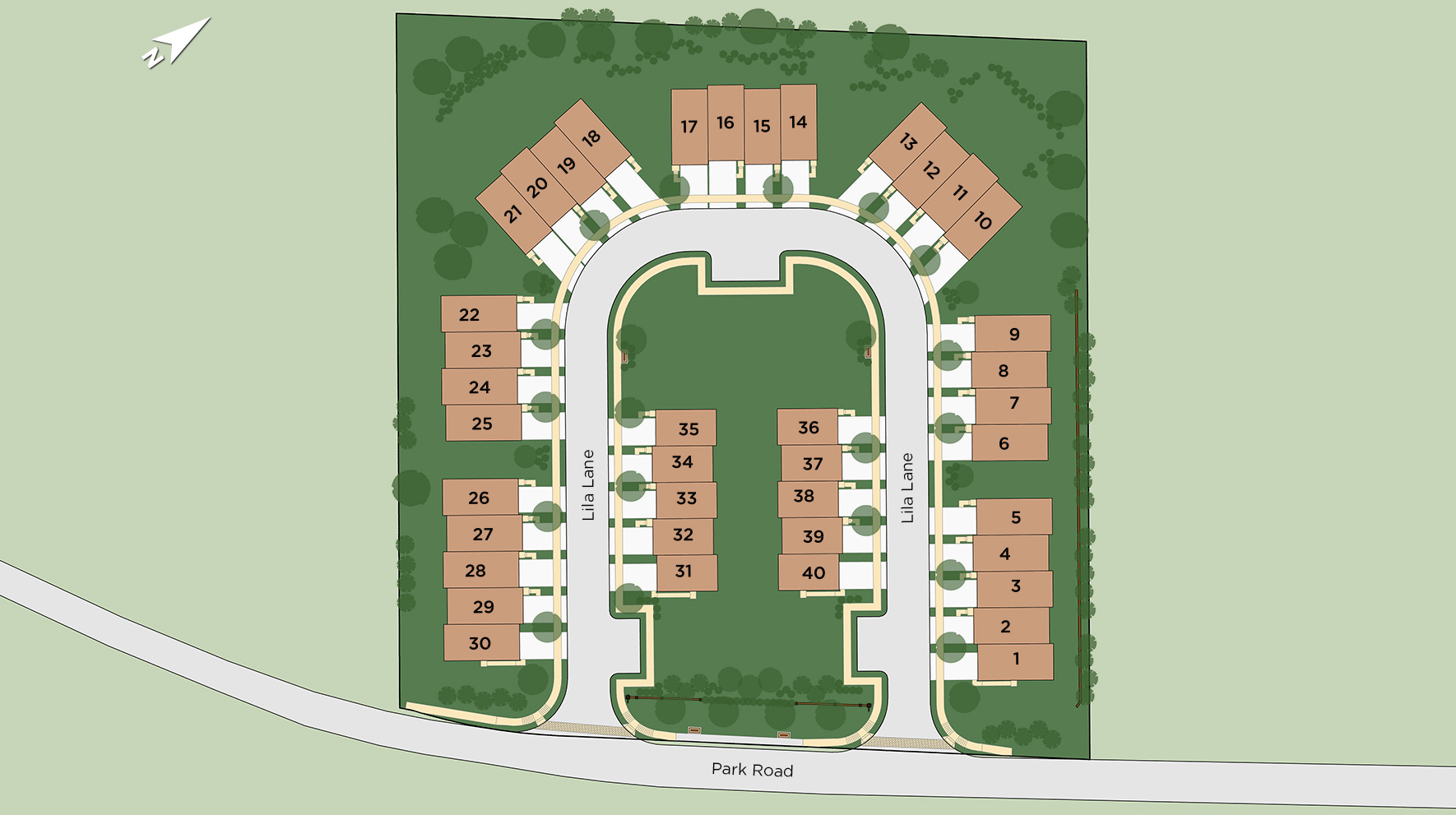 Townes at Chester Springs Site Plan
