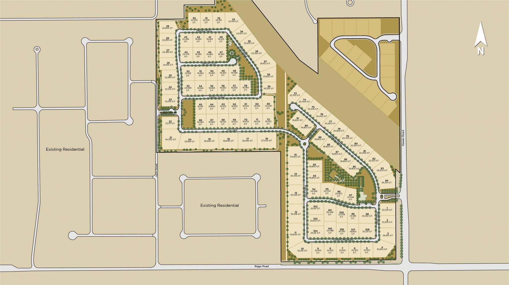 Whitewing at Whisper Ranch Site Plan