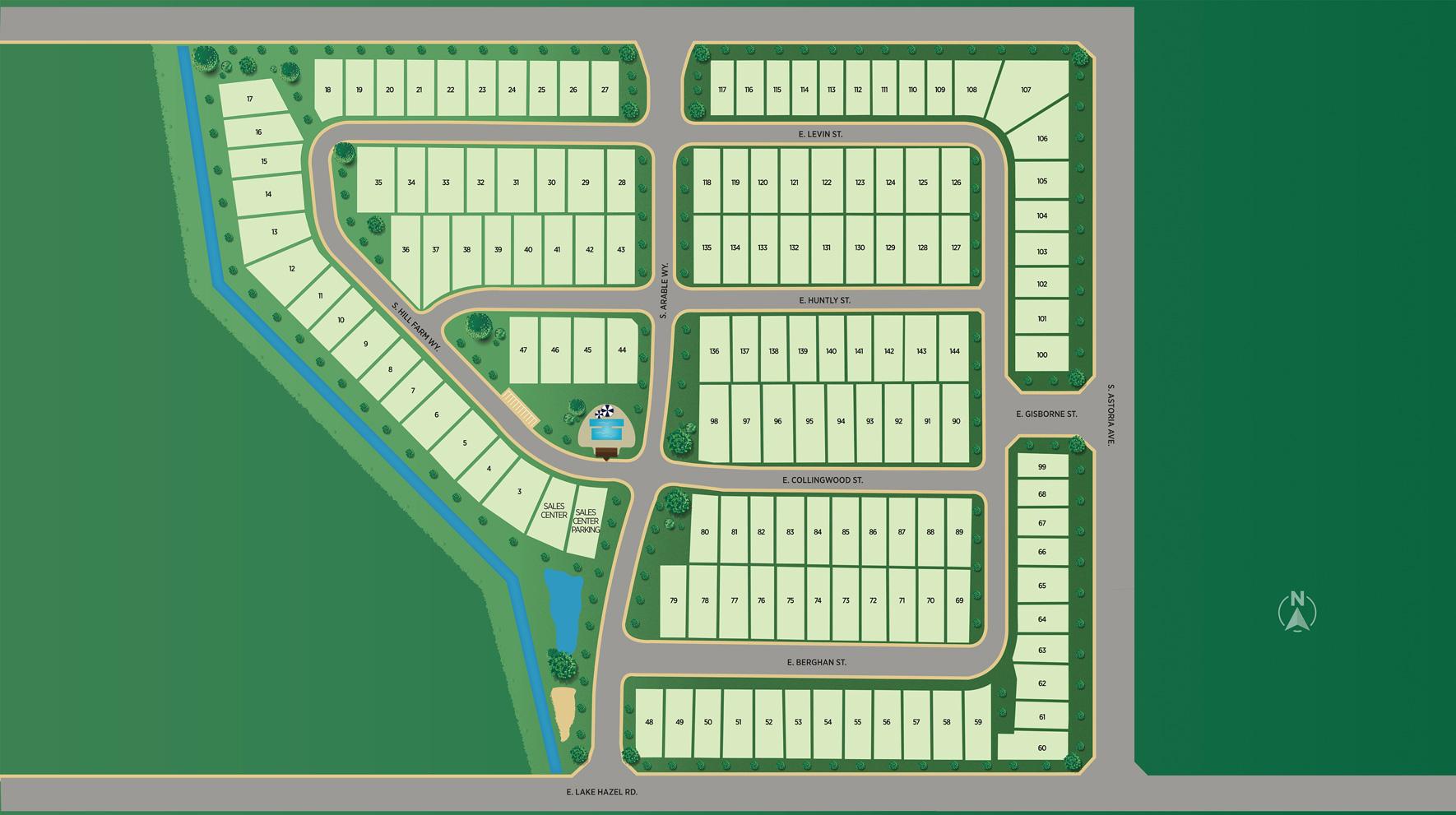 Orchard Creek - Garden Site Plan
