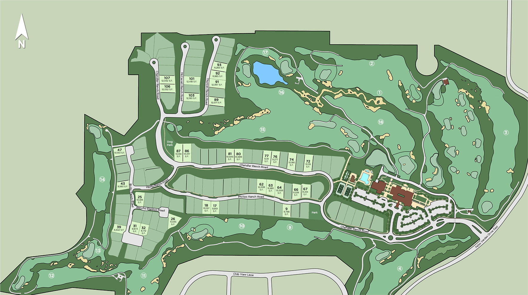 Toll Brothers at Rolling Hills Country Club Site Plan