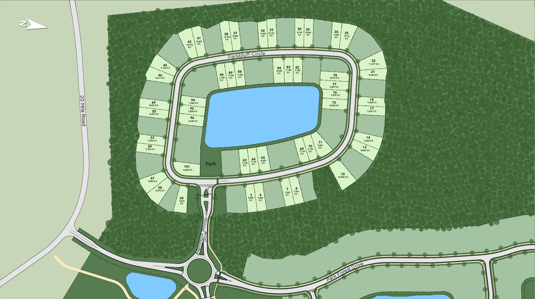 Toll Brothers at The Settlement at Twenty Mile Site Plan