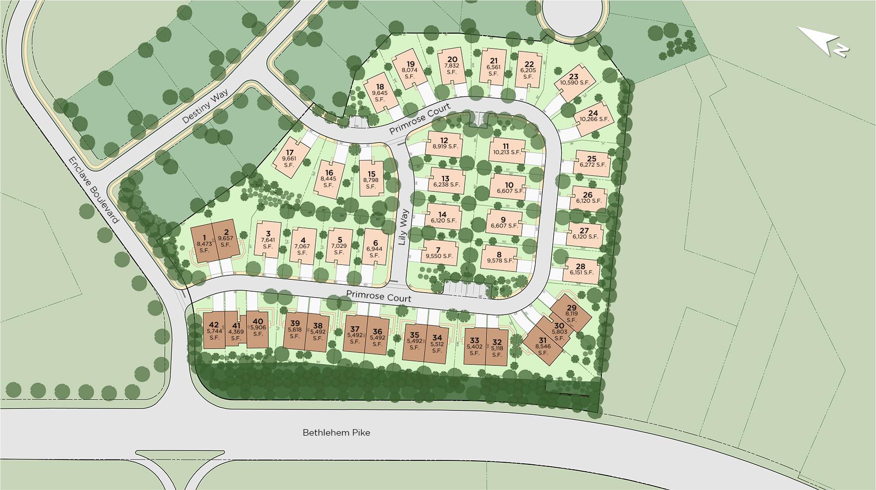 Meadows at Parkview - The Villas Site Plan