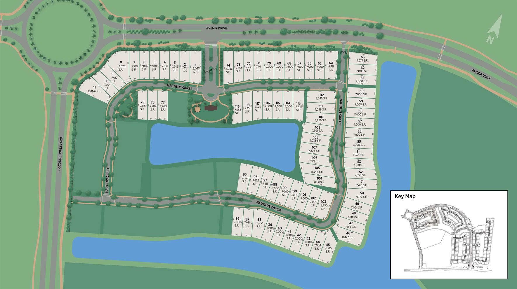 Windgate at Avenir Site Plan