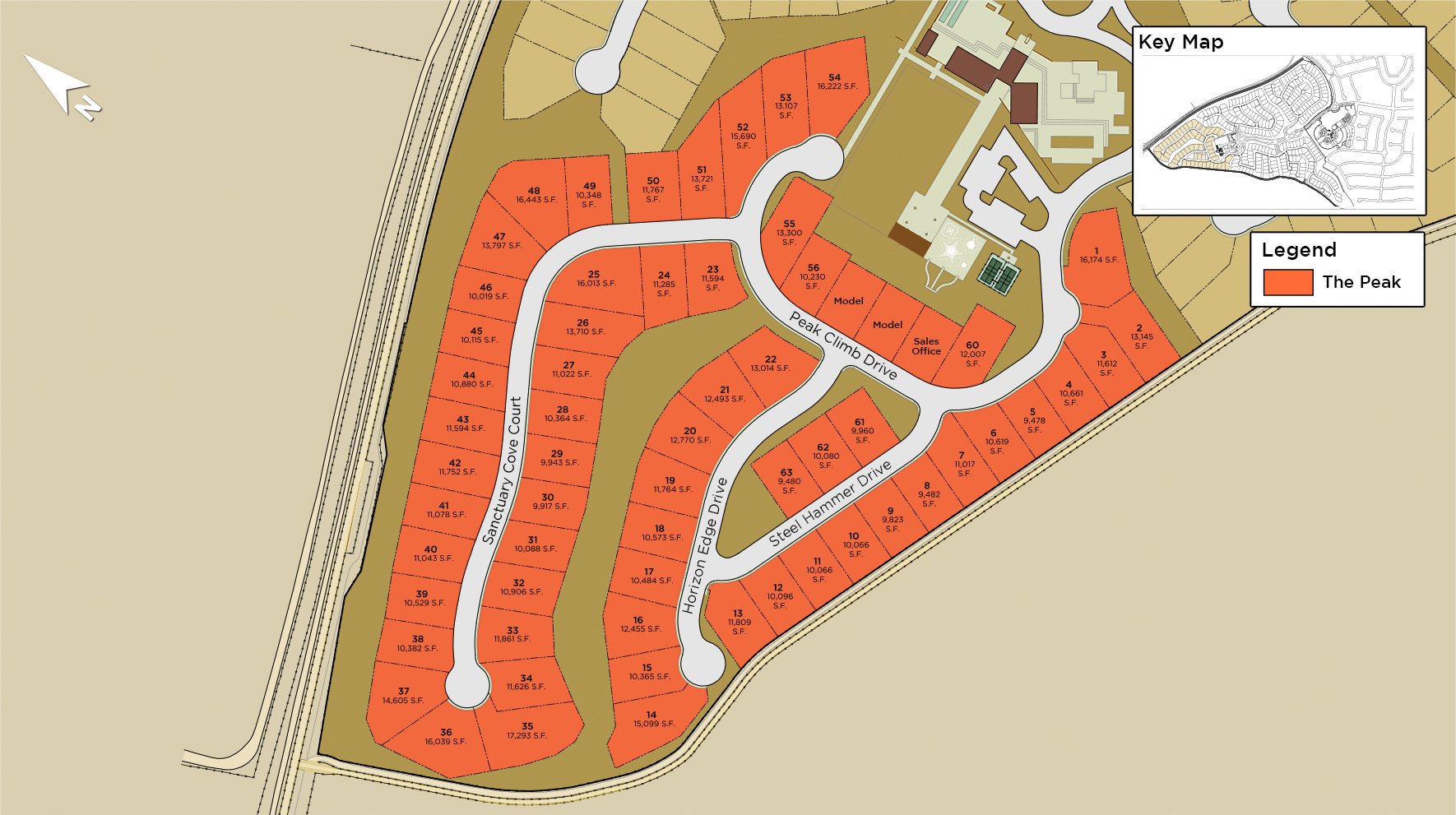 Mesa Ridge - The Peak Collection Site Plan