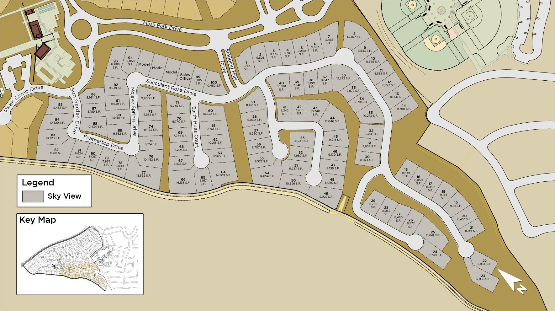 Mesa Ridge - Sky View Collection Site Plan