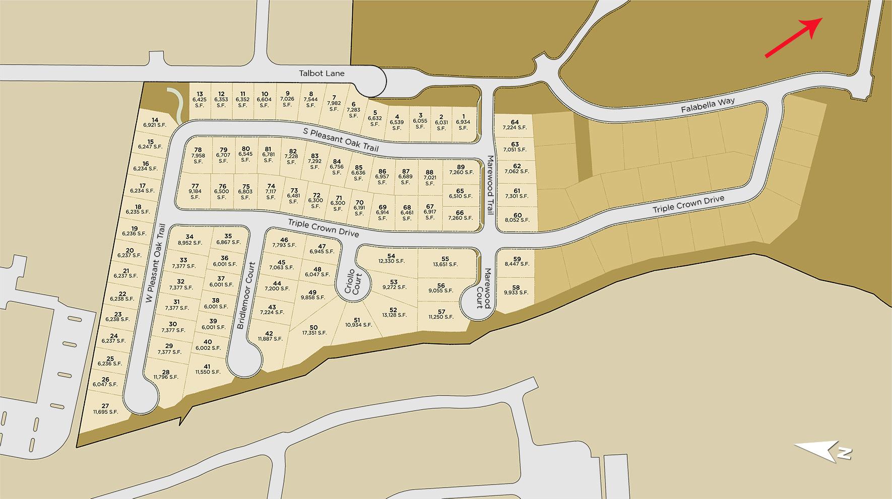 Latigo at Rancharrah Site Plan