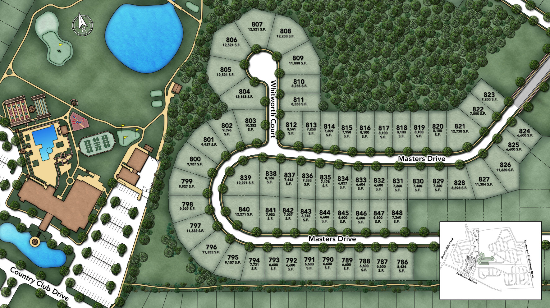 Regency at Monroe - Whitworth Section Site Plan